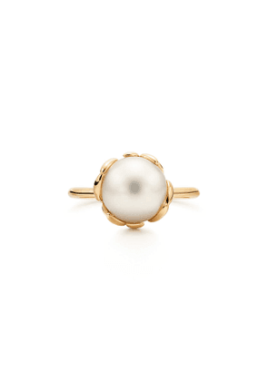 Paloma Picasso® Olive Leaf ring in 18k gold with a freshwater cultured pearl - Size 4 1/2