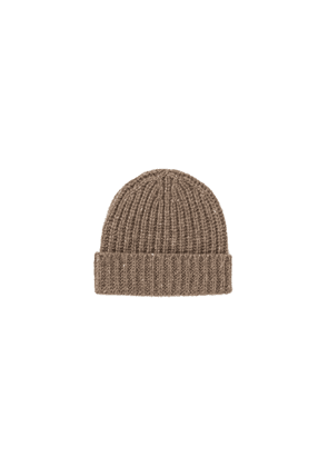 Johnstons Of Elgin Rib Donegal Cashmere Hat Otter Mix