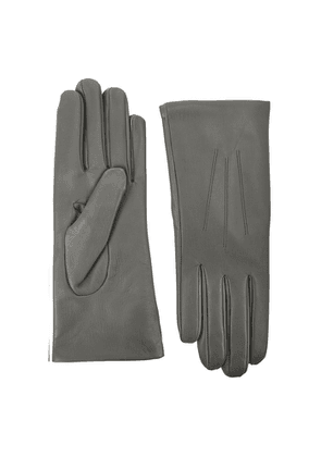 Dents Isabelle Grey Leather Gloves