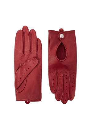 Dents Thruxton Red Leather Gloves