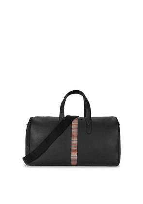 Paul Smith Black Striped Leather Holdall