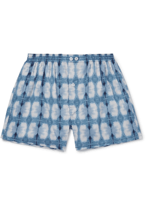 Anonymous Ism - Printed Voile Boxer Shorts - Men - Blue