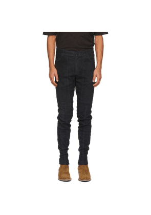 FREI-MUT Navy Leather Avant Trousers