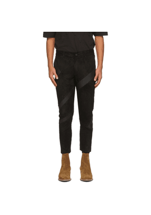 FREI-MUT Black Leather Archiv Trousers