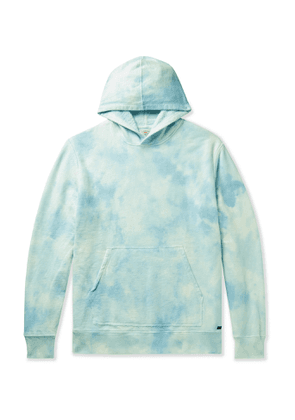 Faherty - Tie-Dyed Loopback Cotton-Jersey Hoodie - Men - Blue