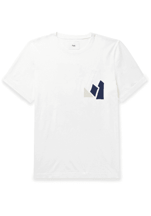 Folk - Voile-Appliquéd Cotton-Jersey T-shirt - Men - White