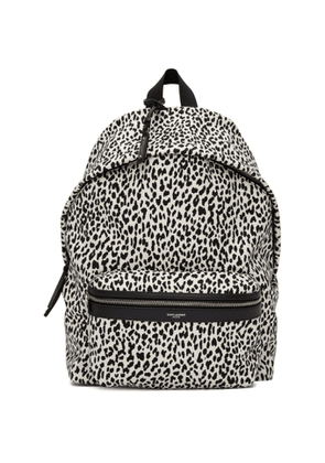 Saint Laurent White and Black City Backpack