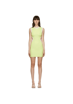 Christopher Esber SSENSE Exclusive Green and White Negative Space Dress