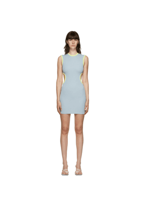 Christopher Esber SSENSE Exclusive Blue and Green Negative Space Dress