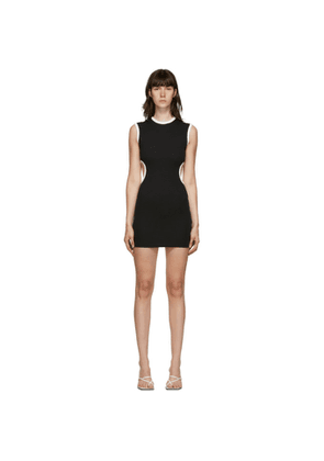 Christopher Esber SSENSE Exclusive Black and White Negative Space Dress