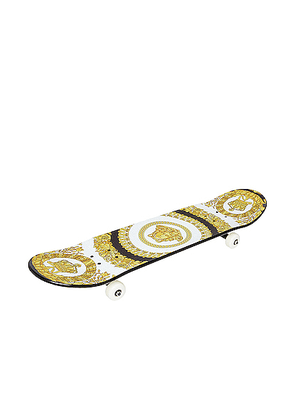 VERSACE Play On Skateboard in Black & Gold - Abstract,Black,Paisley,Yellow. Size all.