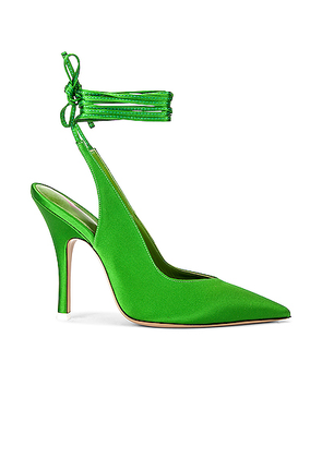 ATTICO Lace Up Slingback Heel in Green - Green. Size 37 (also in 36.5,37.5,38,38.5,39.5).