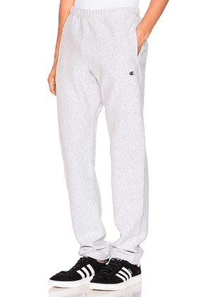 Champion Reverse Weave Elastic Cuff Pant in Gray. Size XL.