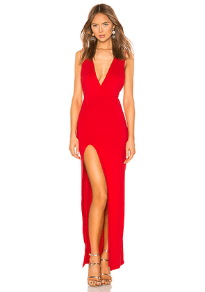 superdown Erika Deep V Jersey Maxi in Red. Size S,M,L.