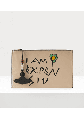 I Am Expensiv Pouch Beige