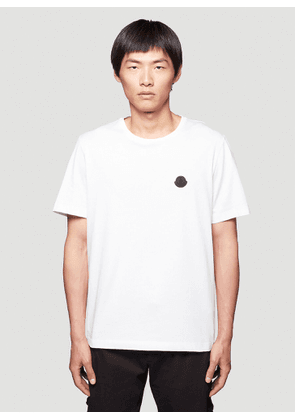 Moncler Logo Patch T-Shirt in White