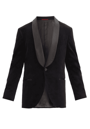 Brunello Cucinelli - Shawl-lapel Cotton-velvet Dinner Jacket - Mens - Black