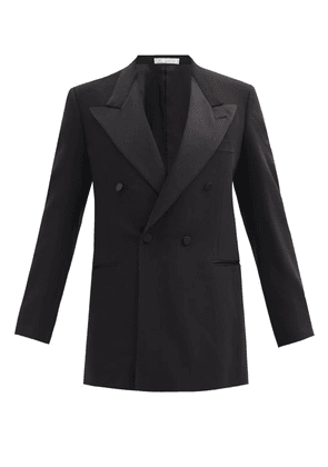 Umit Benan B+ - Double-breasted Wool-blend Tuxedo Jacket - Mens - Black