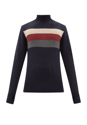 Oliver Spencer - Talbot Striped Roll-neck Wool Sweater - Mens - Navy