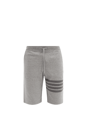 Thom Browne - Four-bar Cotton-jersey Shorts - Mens - Grey