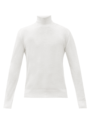 Dolce & Gabbana - Roll-neck Wool Sweater - Mens - White