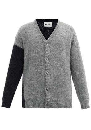 Noma T.d. - Two-tone Mohair-blend Cardigan - Mens - Grey