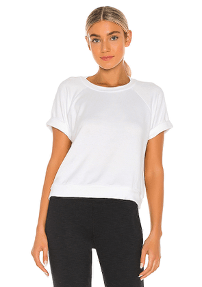 Beyond Yoga Solid Choice Short Sleeve Pullover Top in White. Size S,M,L.