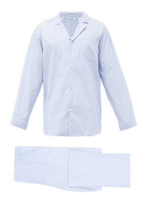 Zimmerli - Piped Cotton Pyjamas - Mens - Light Blue