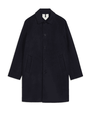 Double-Face Wool Coat - Blue