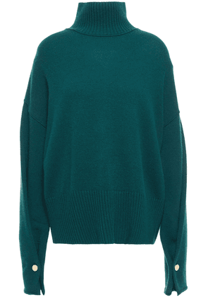 Autumn Cashmere Button-detailed Cashmere Turtleneck Sweater Woman Emerald Size XS