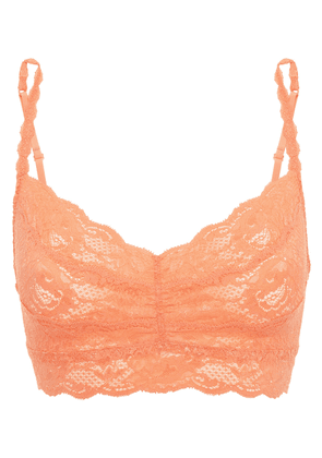 Cosabella Never Say Never Sweetie Ruched Stretch-leavers Lace Soft-cup Bra Woman Peach Size M