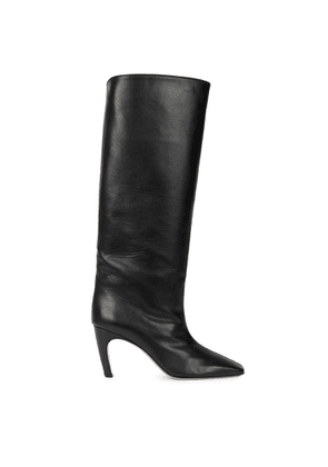 GIA COUTURE 80 Black Leather Knee-high Boots