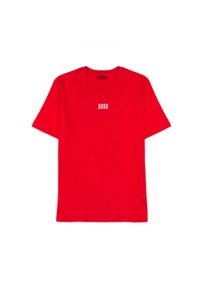 HUGO Durned Red Cotton T-shirt
