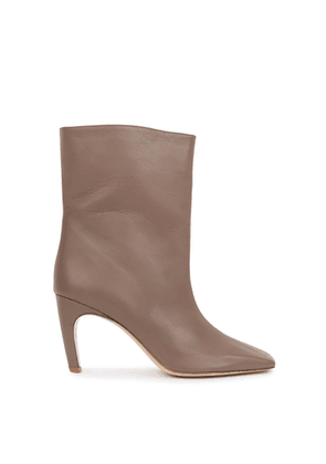 GIA COUTURE 80 Brown Leather Ankle Boots