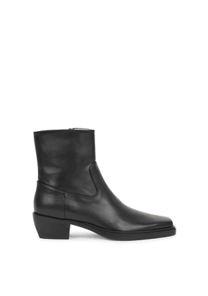 GIA COUTURE X Pernille Teisbaek 50 Black Leather Ankle Boots