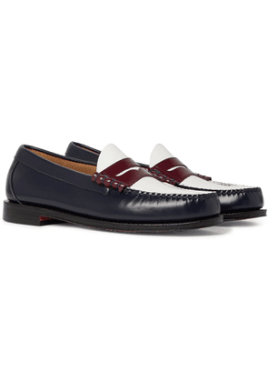 G.H. Bass & Co. - Weejuns Heritage Larson Colour-Block Leather Penny Loafers - Men - Blue