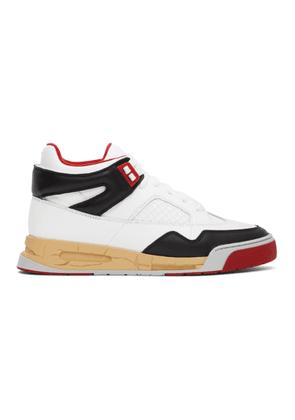 Maison Margiela Red and White DDSTCK Sneakers