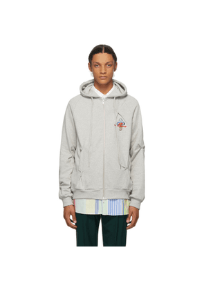 Charles Jeffrey Loverboy Grey Nervous Hoodie