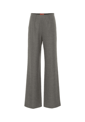 Luther high-rise flared pants
