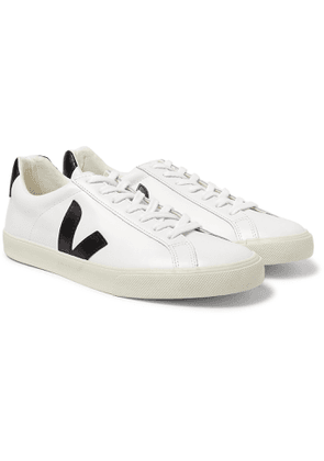 Veja - Esplar Rubber-Trimmed Leather Sneakers - Men - White