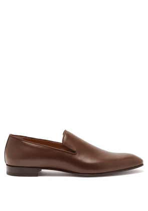 Christian Louboutin - Dandelion Leather Loafers - Mens - Dark Brown