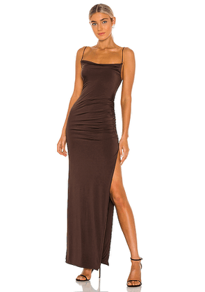 Lovers + Friends Odessa Gown in Brown. Size XS,S,M,L,XL.