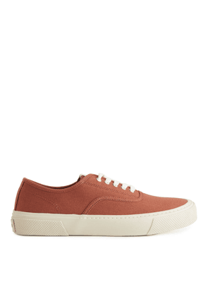 Canvas Trainers - Orange