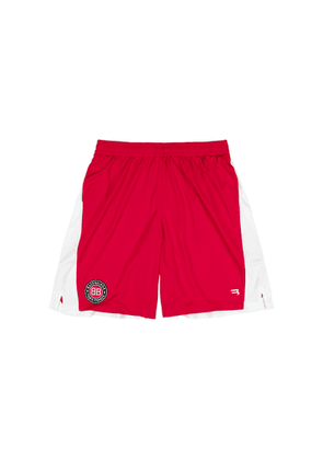 Balenciaga Red Jersey-mesh Shorts