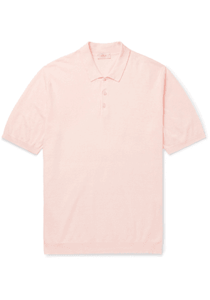 Altea - Linen and Cotton-Blend Polo Shirt - Men - Orange