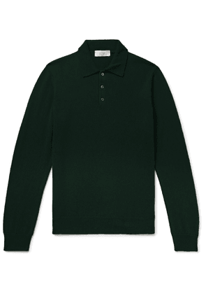 Altea - Mélange Cashmere Polo Shirt - Men - Green