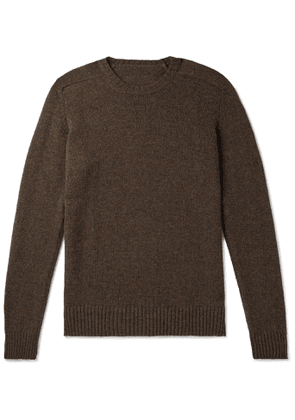 Anderson & Sheppard - Shetland Wool Sweater - Men - Brown