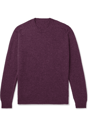 Anderson & Sheppard - Shetland Wool Sweater - Men - Purple
