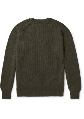 Anderson & Sheppard - Ribbed Cashmere Sweater - Men - Green
