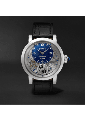 Bovet - Récital 29 Moon-Phase 42mm Stainless Steel and Leather Watch, Ref. No. R290002 - Men - Blue